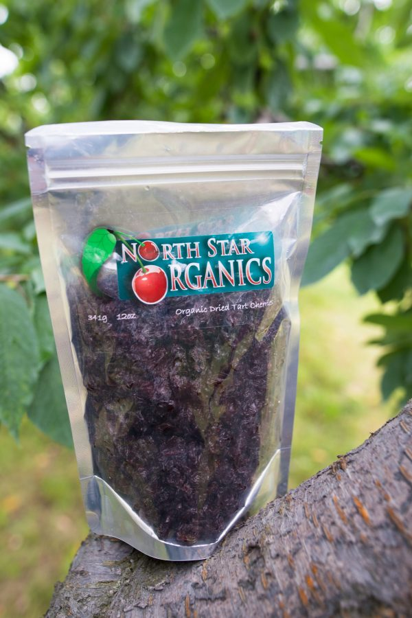 Dried cherries 12oz pouch in tree